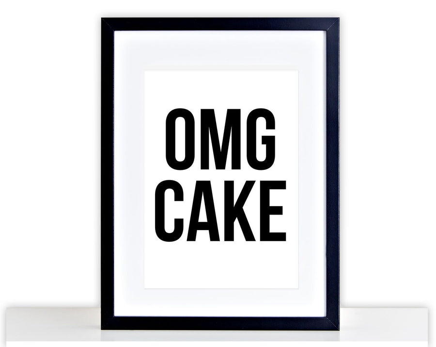 OMG CAKE Picture Baking Poster Print Framed Mounted Kitchen Photo Bake Cup 234