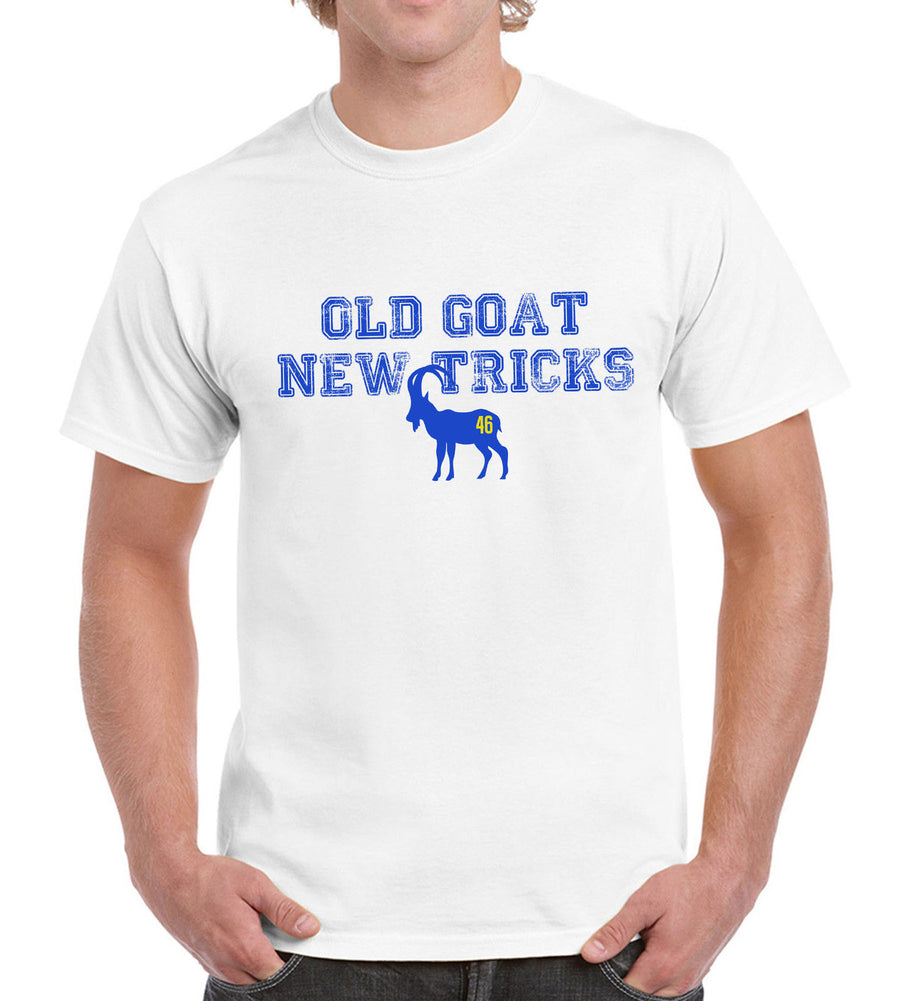 Old Goat New Tricks Funny Mens Motor Rossi Tshirt Motorbike GP Superbike Racer