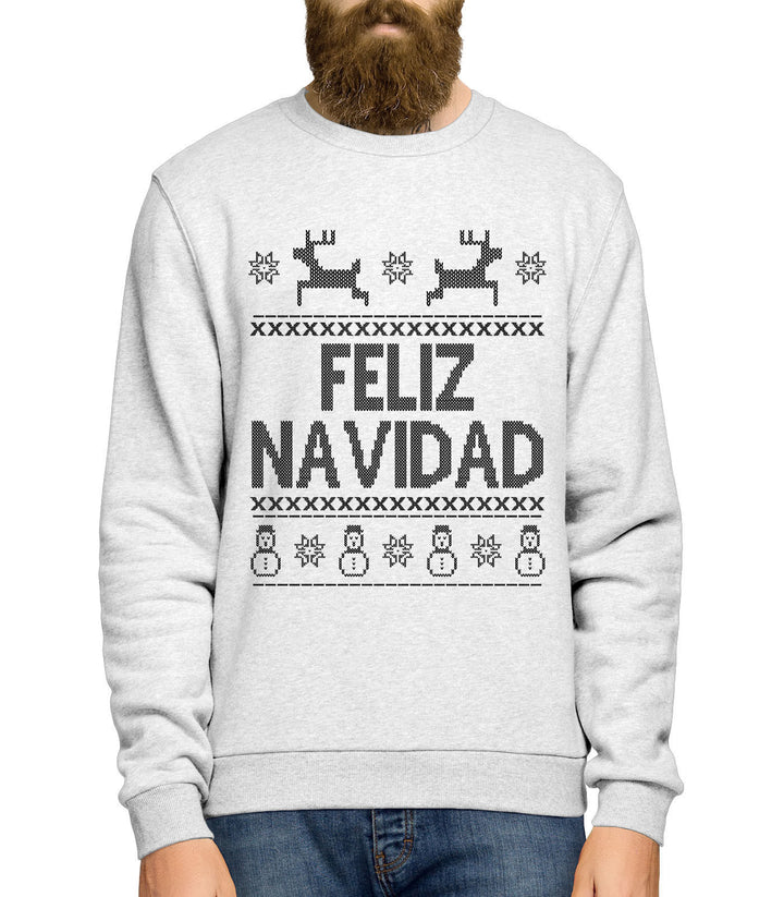 Feliz Navidad Christmas Jumper Sweatshirt Men Women Kids Ugly Day Funny  L167