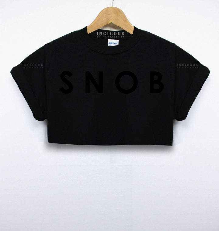 Snob Crop Top T Shirt Love Girls Posh Vein Indie Women Street Wear Hipster