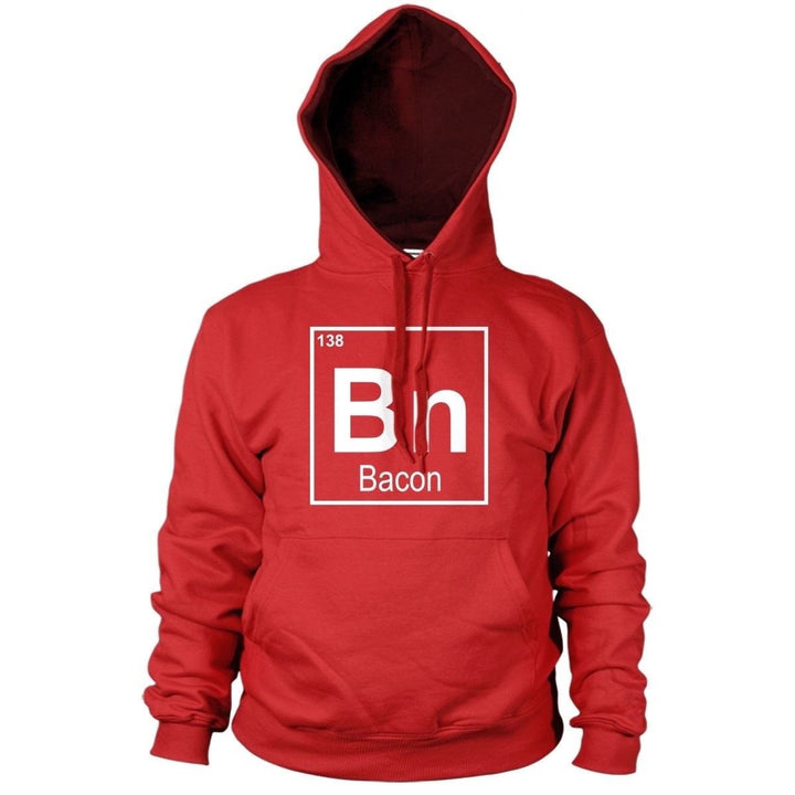 Bn Bacon Hoodie Hoody Men Women Kids Music Happy Food Love Grub Rashers, Main Colour Red