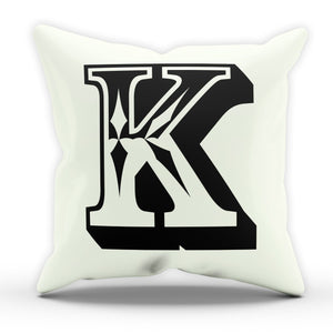 K Rose Letter Cushion Pillow Personalised Gift Present Birthday New Home Furnish