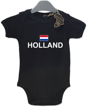 Holland Sport Gift Baby Grow Birthday Present Unisex BabyGrow Playsuit Football