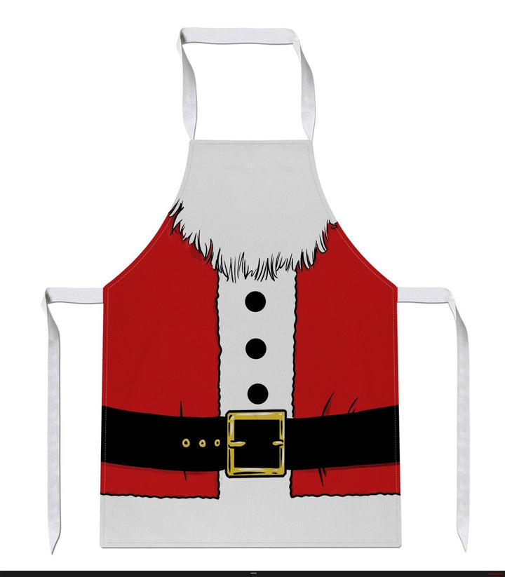Santa Body Costume Apron Xmas Christmas Cook Dinner Gift Baking Cake Funny JC24