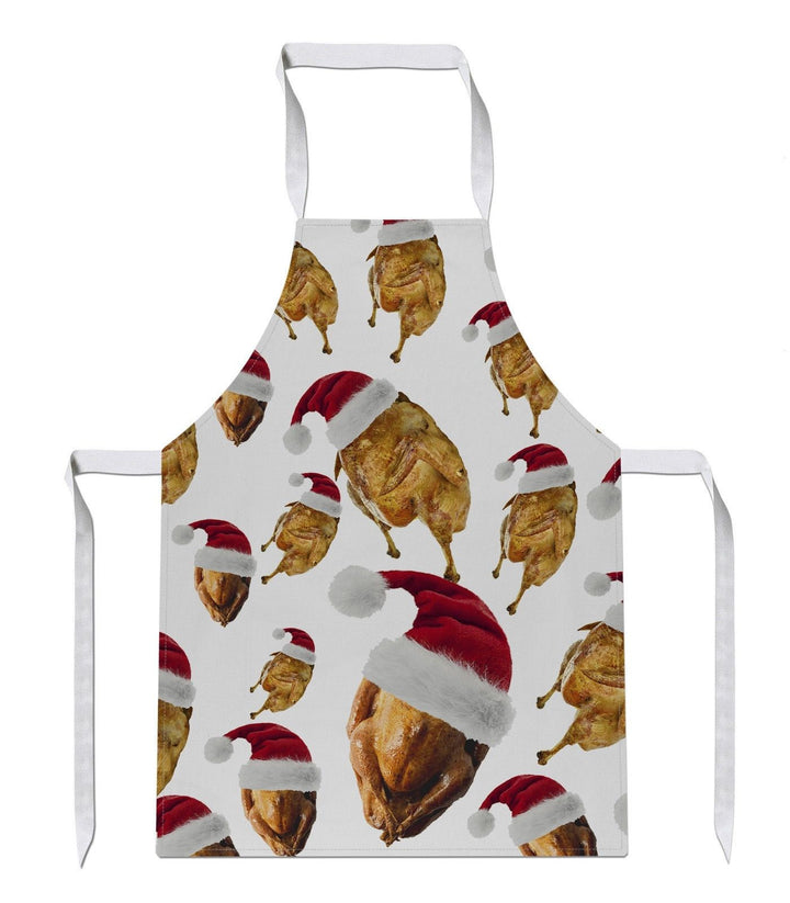 Turkey Hat All Over APRON Christmas Dinner Chef Novelty Gift Present Santa