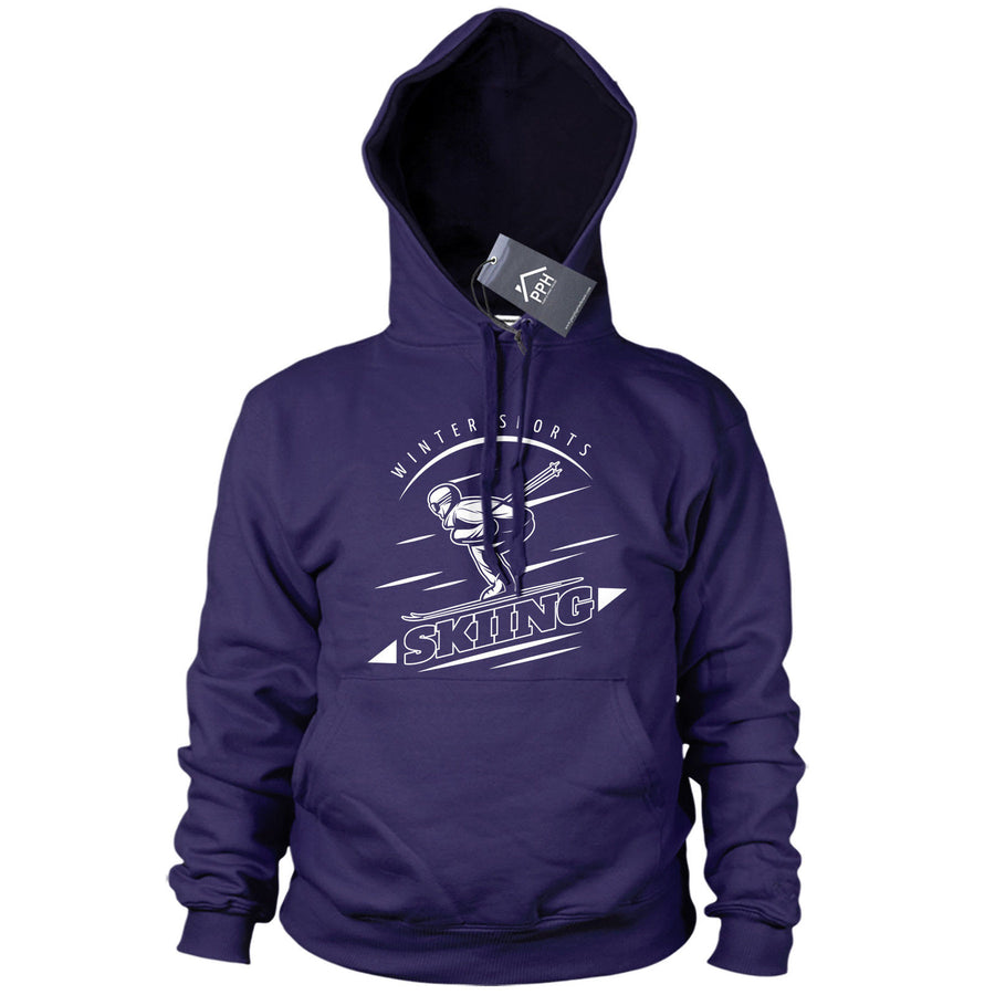 Winter Sports Skiing Hoody Mens Womens Ski Snowboard Gift Hoodie Top Base 491
