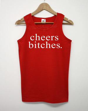 Cheers Vest Funny Thanks Girls Lads Summer Holiday Parody Tumblr Swag Clothing