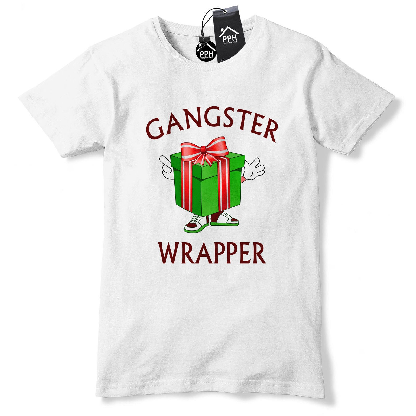 Christmas Rap Music.Gangster Wrapper Funny Christmas Present Tshirt Rap Music Dope Festive Tee Ch36 The Clothing Shed