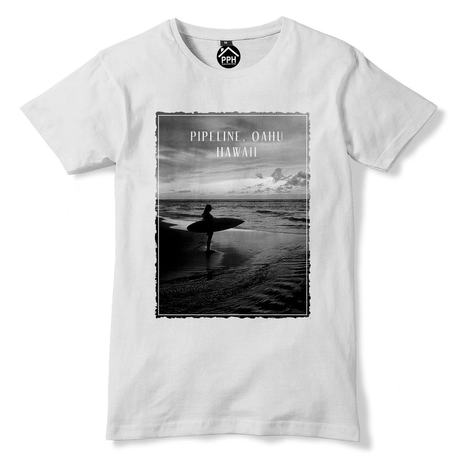 Pipeline Oahu Hawaii Tshirt Surf Board Mens Top Wax Famous Surfing T Shirt 117