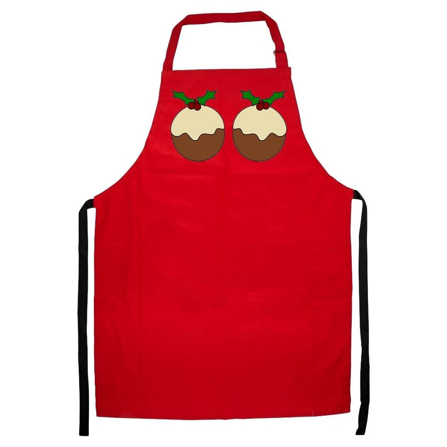 XMAS PUDDING APRON FUNNY BOOBS BREASTS COOKING CHRISTMAS DINNER GIFT MEN WOMEN