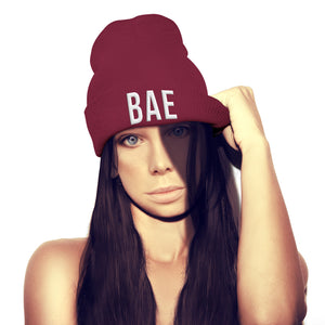 Bae Beanie HAT Bae Watch Bay Watch Funny Girlfriend Boyfriend hat Outfit Hipster