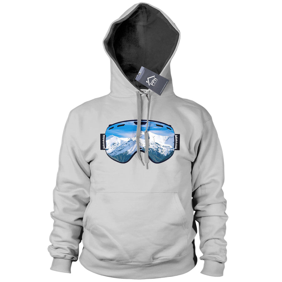Ski Goggles Mountain View Hoodie Mens Womens Kid Skiing Hoody Snowboard Gift 488
