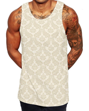 Light Floral Pattern Mens VEST Top Flower Rose Fashion Tank Holiday Saints 193