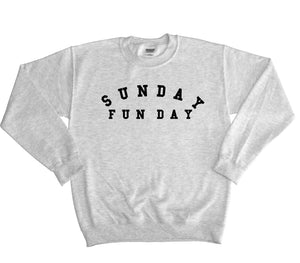 Sunday Fun Day Sweater Chilled Jumper Cosy Baggy Mens Womens Hipster Inide