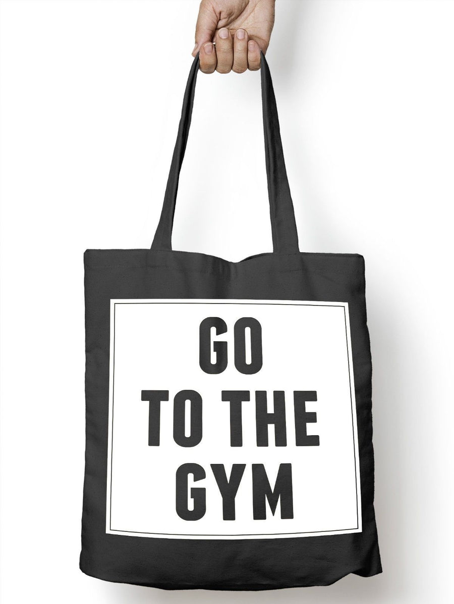 Go to the Gym Funny training Tote Bag For Life Shopper Muscle Shopping E61