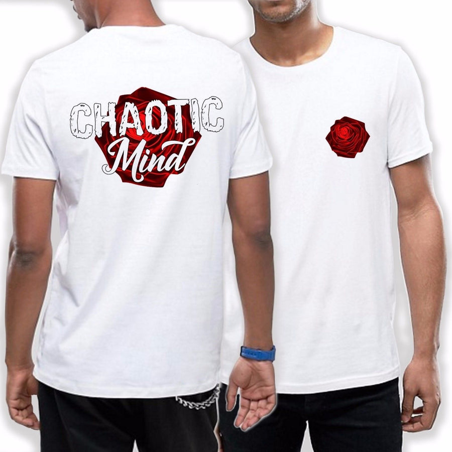 Chaotic Mind T Shirt Rose Emo Gothic FRONT + BACK PRINT Street Dope Fashion 701