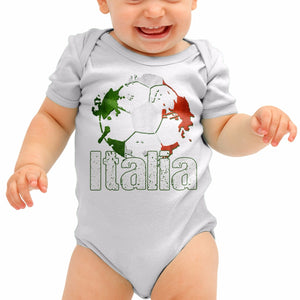 Italia Football Shirt Italy Azzuri Baby Grow Romper Suit Babygrow Body Suit B40