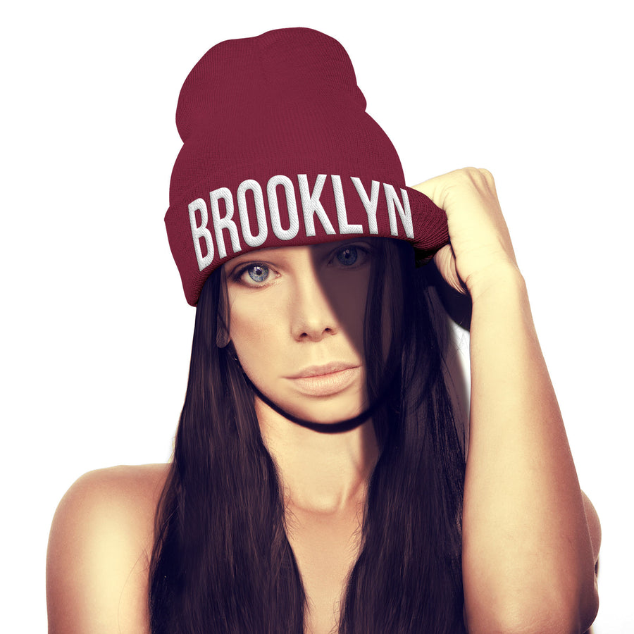 Brooklyn Beanie Hat New York City Gangster Hat NYC Gift Stocking Xmas Bobble hat