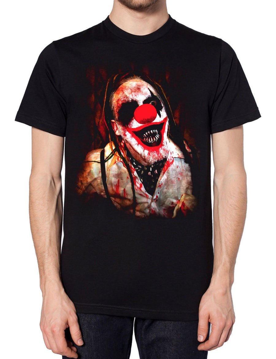 Freaky Clown T Shirt Halloween Party Costume Scary Freaky Monster Circus Blood