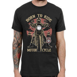 Born to Ride Motorcycle Club T Shirt Biker Outlaw Hells Angels California Design