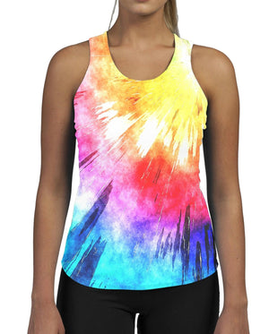 Bright Flash WOMENS GYM TANK Fitness Work Out Colour Rainbow Ladies Muscle Expo