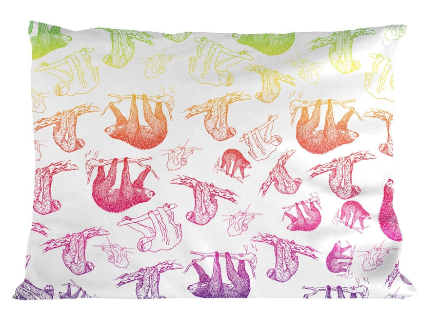 Rainbow Sloth PILLOW Case Bedroom Bed Cover Funny Joke Kids Unicorn Lazy Bed