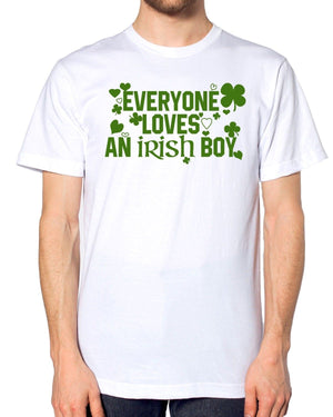 Everyone Love's An Irish Boy T Shirt Funny St Paddy's Patrick's Day Mens EP18