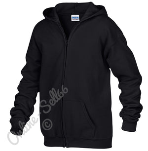 Kids Zipped Hoodie Full Zip Hoody Sweatshirt Work Wear School Uniform Boys Girls