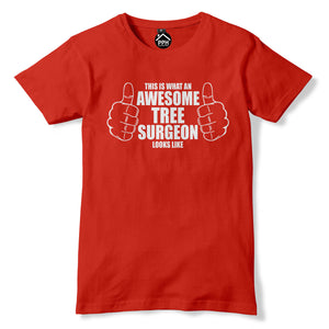 Awesome Tree Surgeon Tshirt Funny Mens Axe Chainsaw T Shirt Lumberjack PT23