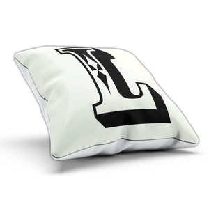 L Rose Letter Cushion Pillow Personalised Gift Present Birthday New Home Furnish
