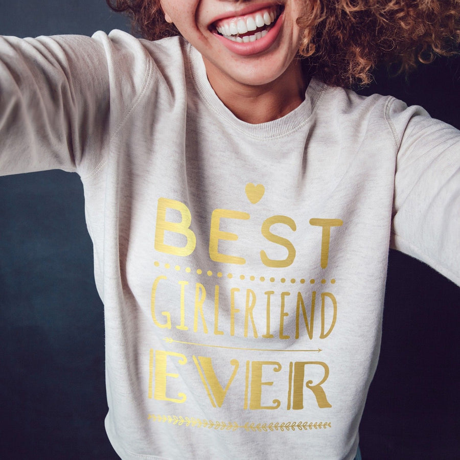 Best Girlfriend Ever Valentines Day Gift Sweater Womens Wifey Sweatshirt Love V3