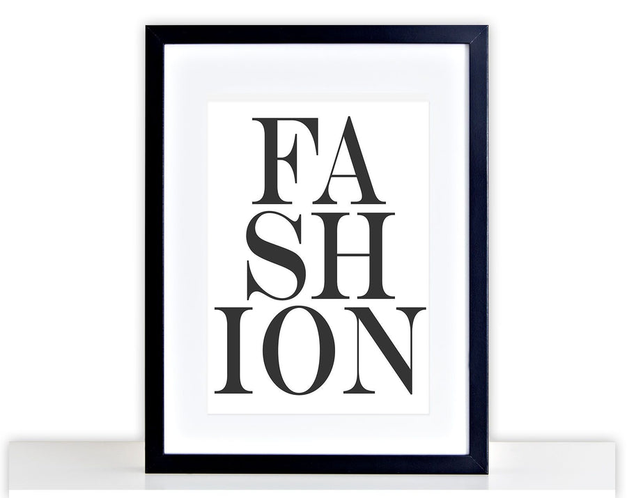Fashion Print Picture Womens Bedroom Poster Print Framed Mounted Gift 243