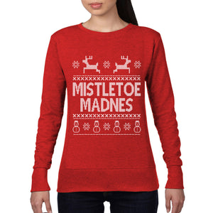Mistletoe Madness Funny Christmas Jumper Mens Womens Sexy Rude Sweatshirt CH13