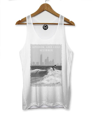 Superbank Gold Coast Australia Vest Surf Men Sleeveless Tank Famous Surfing 116
