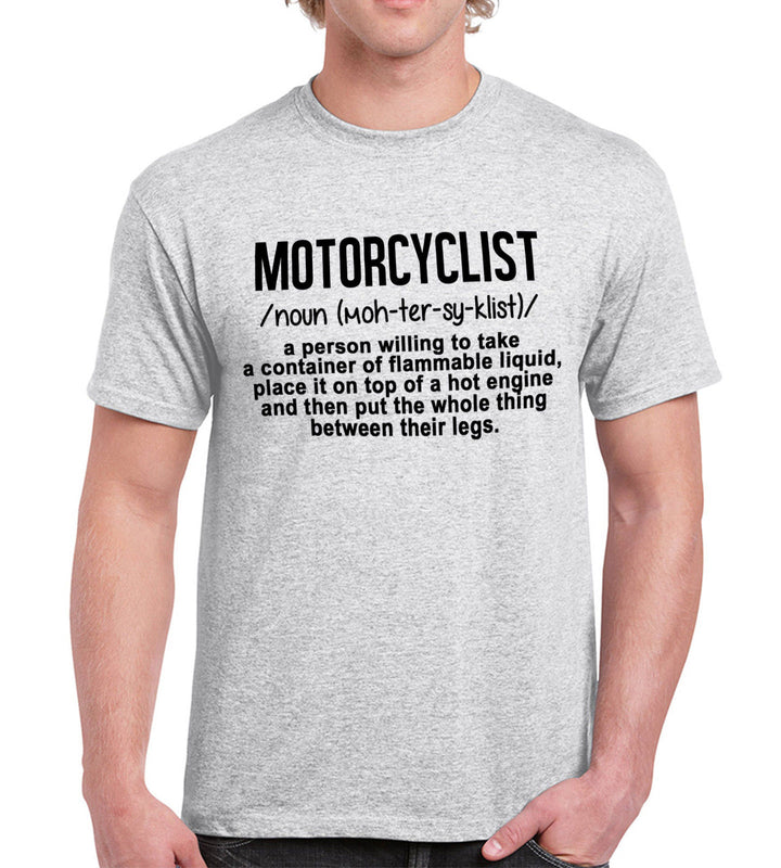 Motorcyclist A Person Who ... Funny Motorbike Engine T Shirt Mens Womens Fathers, Main Colour Ash Grey