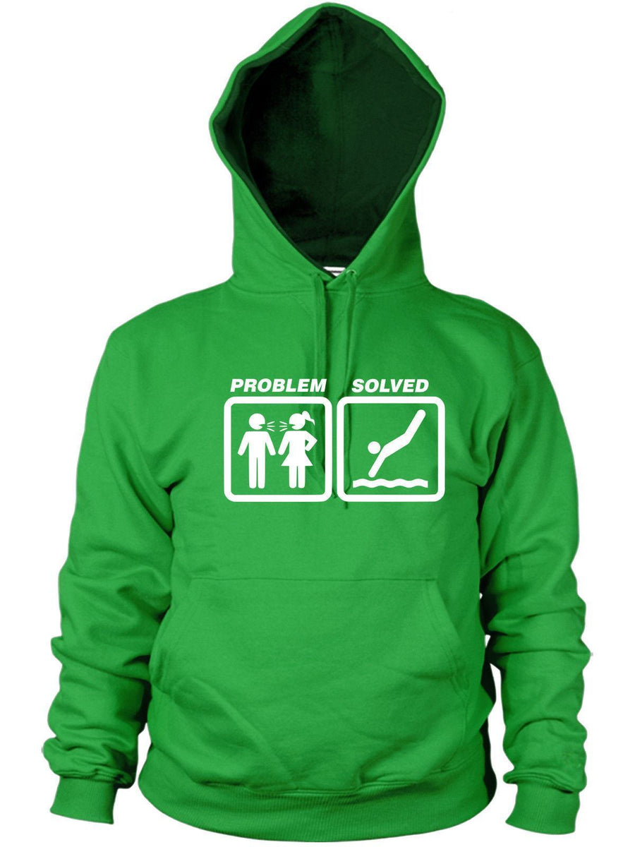 Diving Problem Solved Hoodie Funny Present Women Men Hoody Pool Board Swimming