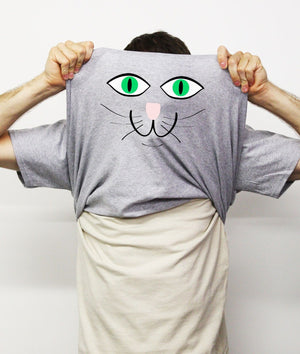 Ask Me About My Pussy Flip T Shirt Cat Animal Funny Comedy Rude Gift Present , Main Colour Sport Grey