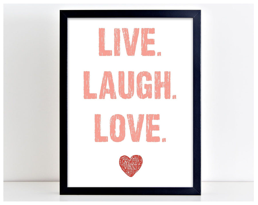 Live Laugh Love Family Home Decor Picture Word Poster Print Typography Gift PP13