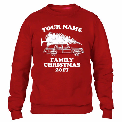 Personalised Family Name Christmas Sweater Jumper Men Funny Griswold Customised