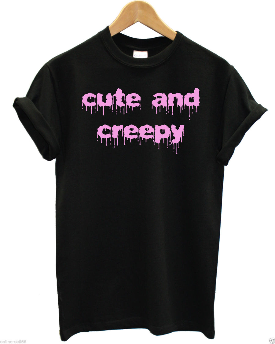 Cute and Creepy T Shirt Halloween Hipster Grunge Girl Swag Tumblr Fresh Skater