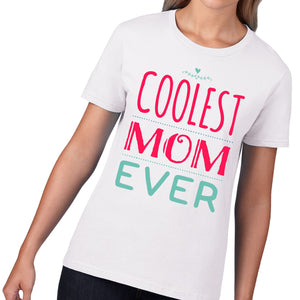 Coolest Mom Ever T-Shirt Mothers Day Gift TShirt Daughter Card Son Cute Mum M6