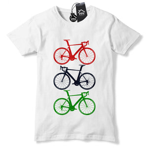 Road Bike T Shirt Novelty Bicycle Top Gift BMX Fathers Day Race Saddle Tee 500