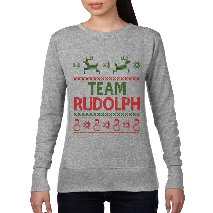 Team Rudolph Jumper Christmas Sweatshirt Novelty Gift Party Funny FAIR ISLE CH11