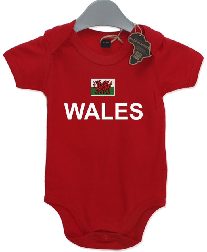 Wales Rugby Gift Baby Grow Birthday Present Unisex BabyGrow Playsuit Football