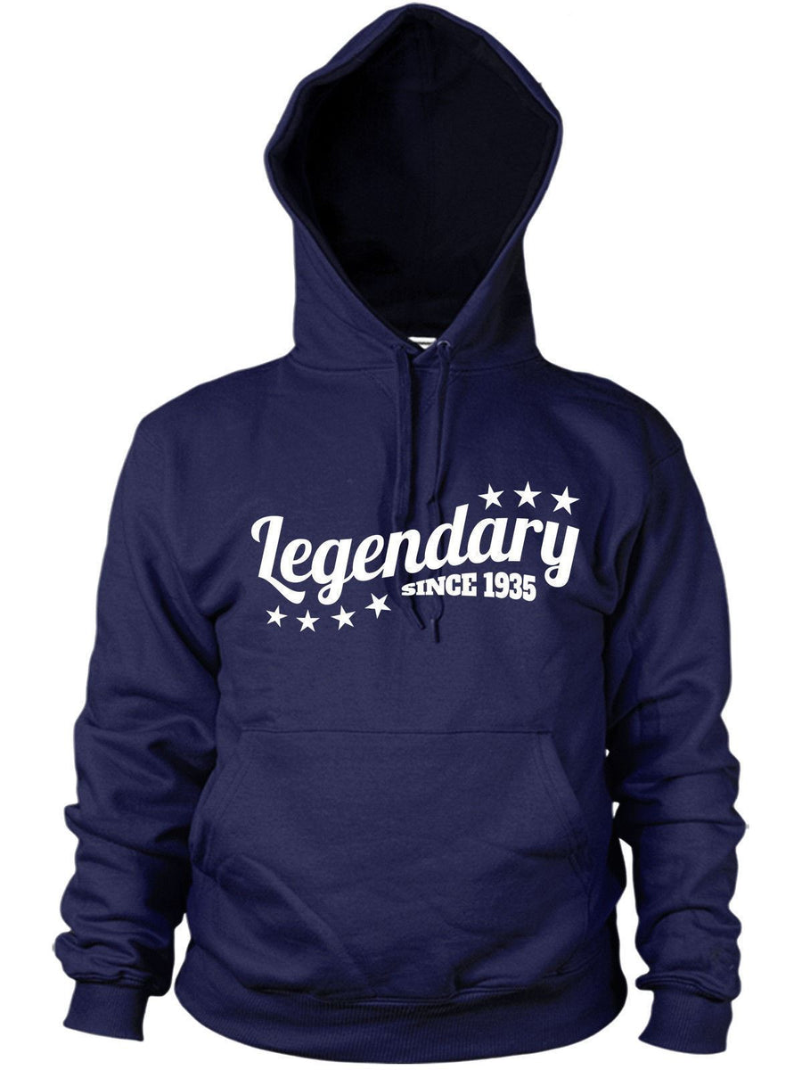 Legendary Since 1935 Hoodie Gift Birthday 81 82 years old Present Dad Women Mens