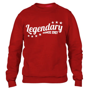 Legendary Since 1957 Sweatshirt Jumper Mens Womens Present Funny 60 61 Birthday
