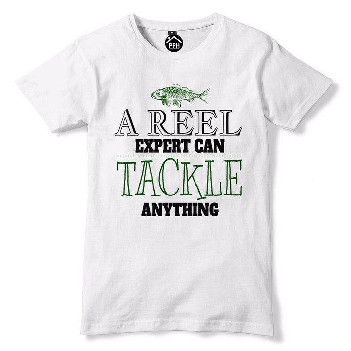Reel Expert can Tackle Anything Funny Fishing T Shirt - Fathers Day Angling  734