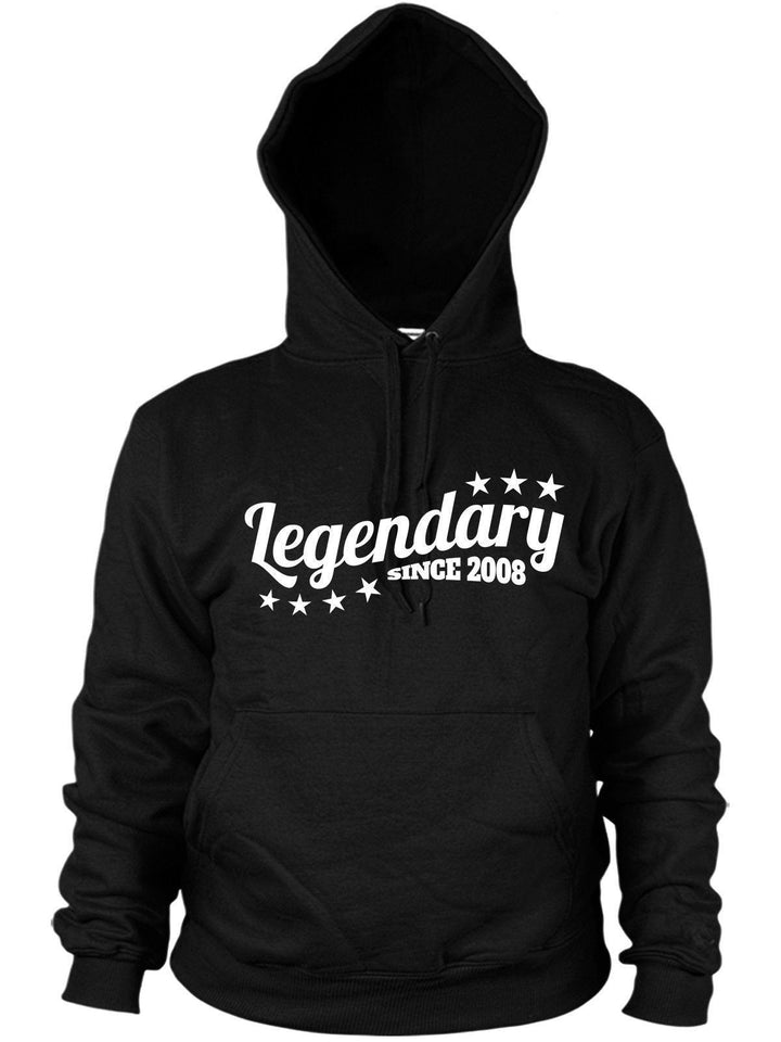 Legendary Since 2008 Hoodie Birthday Gift years Legend Top Present Men kids boys