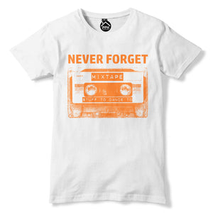 Never Forget Cassette Tape T Shirt Old School 80s 90s Music Top Disco Dance 357