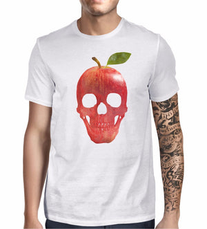 Apple Fruit Skull T Shirt Emo Goth Hipster Print Funny Gift Mens Fashion 709